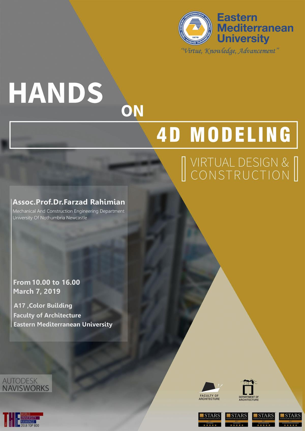Hands on 4D Modeling and Virtual Design and Construction