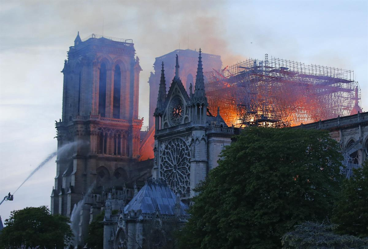 We are in sadness for hearing Notre Dame Cathedral fire
