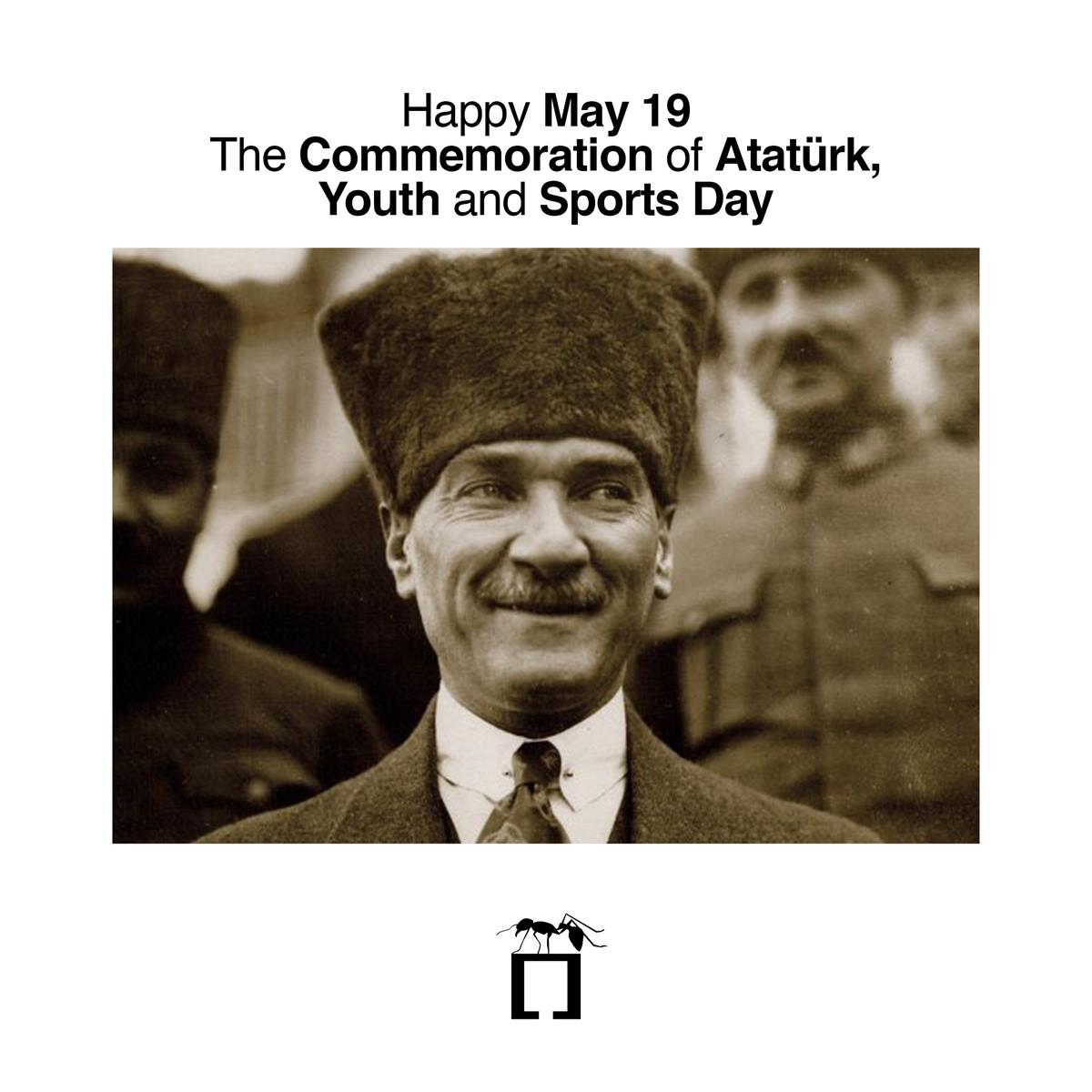 Happy May 19, The Commemoration of Atatürk, Youth and Sports Day