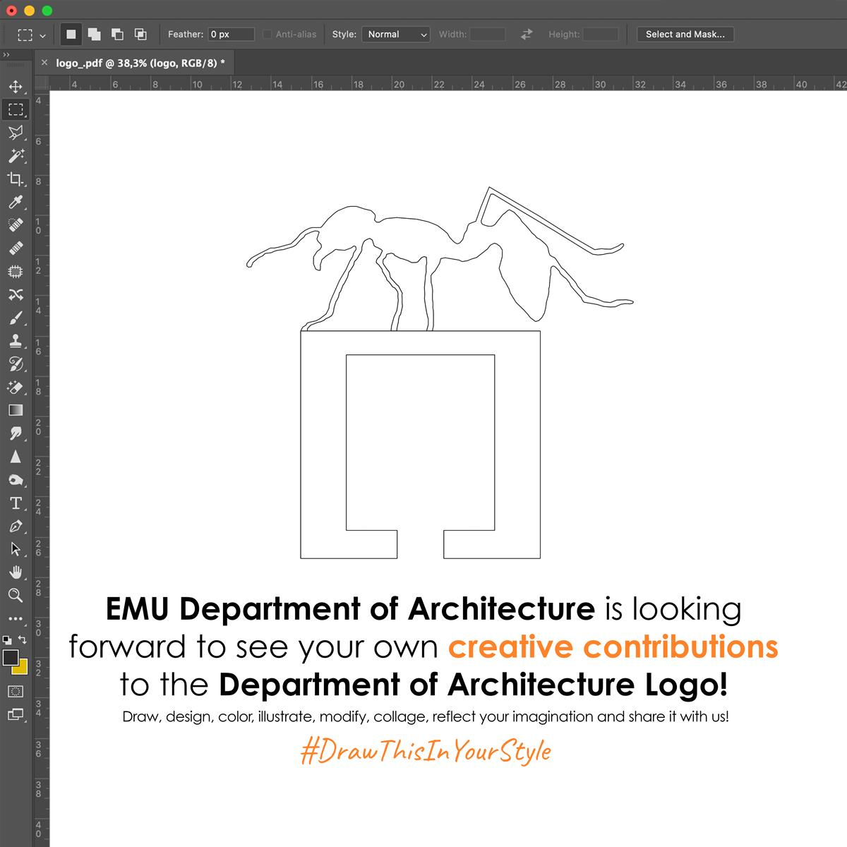 Draw Department of Architecture logo in your style!