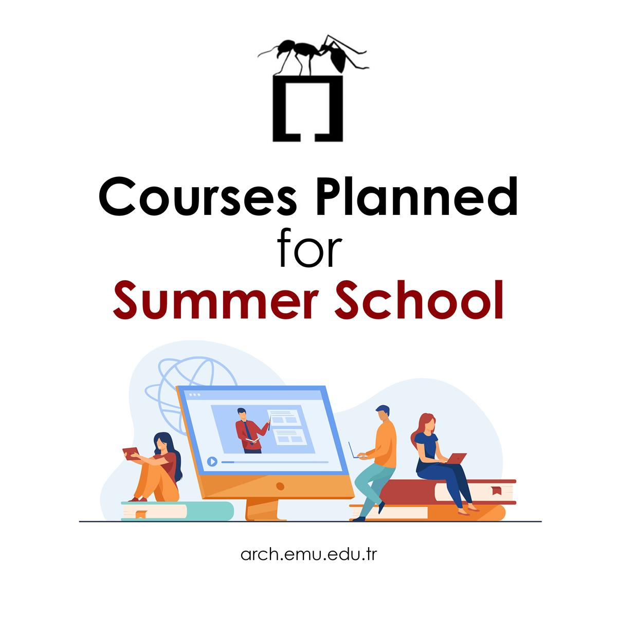 Courses Planned for Summer School