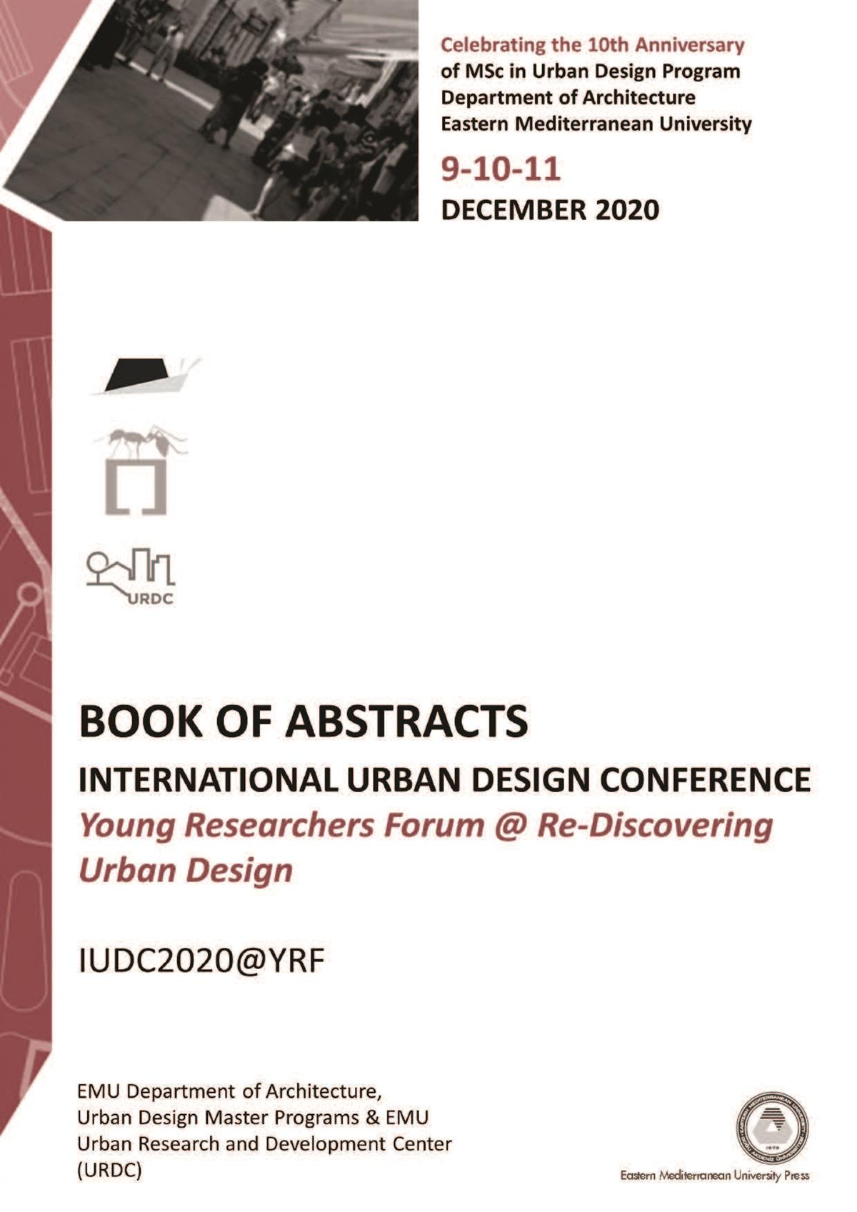 INTERNATIONAL URBAN DESIGN CONFERENCE |Book of Abstract