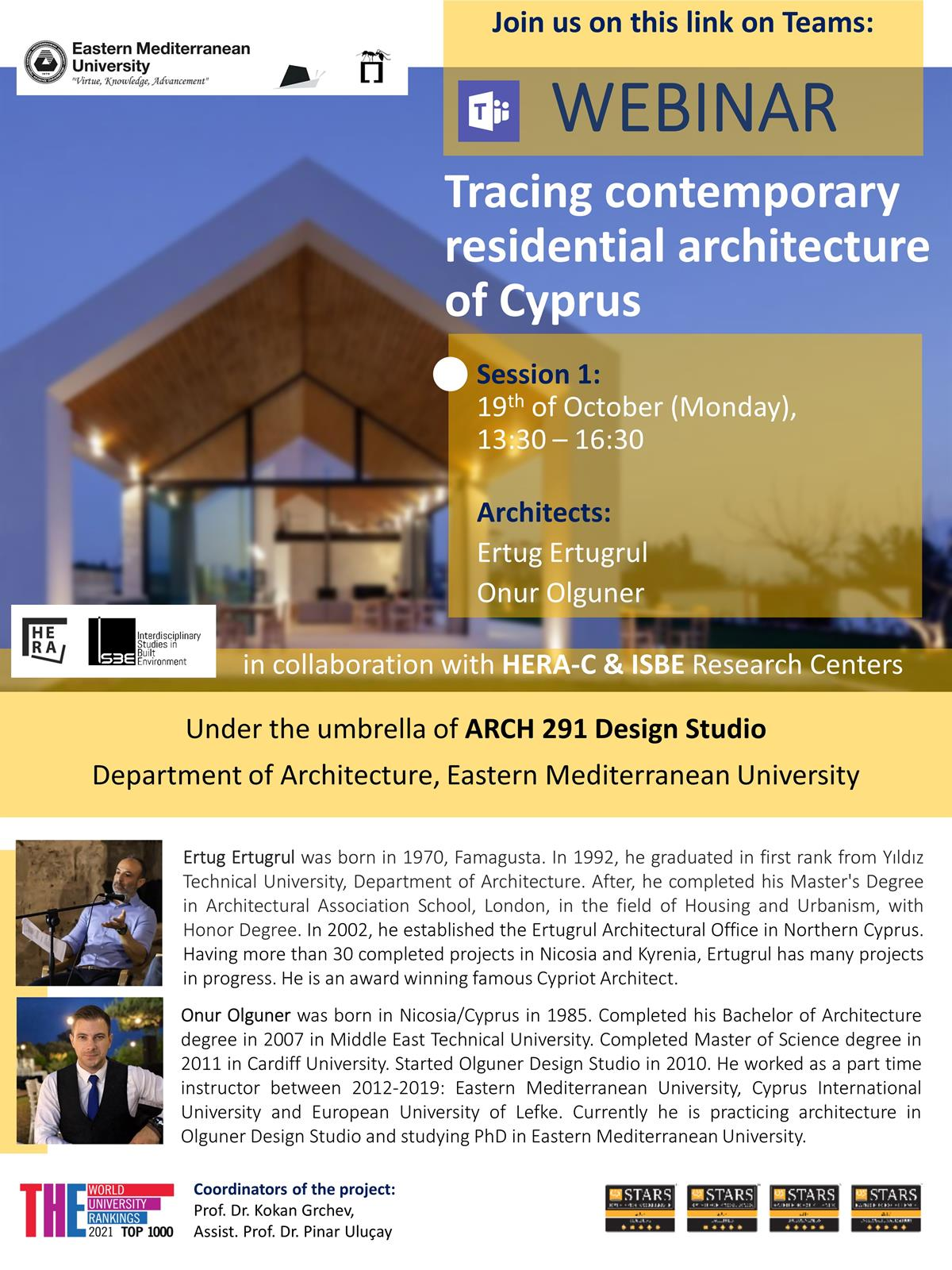 Online Webinar: Tracing contemporary residential architecture of cyprus | Session 1