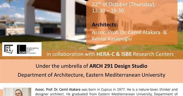 Online Webinar: Tracing contemporary residential architecture of cyprus | Session 2